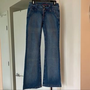 Brand new w/o tags flared denim jeans